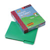 Waterproof Poly File Folders, 1/3 Cut Top Tab, Letter, Green, 24/Box