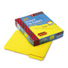 Waterproof Poly File Folders, 1/3 Cut Top Tab, Letter, Yellow, 24/Box