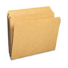 Kraft File Folders, Straight Cut, Reinforced Top Tab, Letter, Kraft, 100/Box