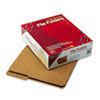 Kraft File Folders, 2/5 Cut Right, Reinforced Top Tab, Letter, Kraft, 100/Box