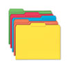 File Folders, 1/3 Cut, Reinforced Top Tab, Letter, Assorted, 100/Box