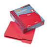 File Folders, 1/3 Cut Top Tab, Letter, Red, 100/Box