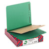 Pressboard Classification Folders, Letter, Four-Section, Green, 10/Box