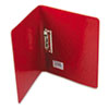 "PRESSTEX Grip Punchless Binder With Spring-Action Clamp, 5/8"" Capacity, Red"