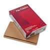 Kraft File Folders, Straight Cut, Reinforced Top Tab, Legal, Kraft, 100/Box