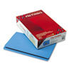 File Folders, Straight Cut, Reinforced Top Tab, Legal, Blue, 100/Box