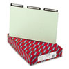 One Inch Expansion Metal Tab Folder, 1/3 Top Tab, Legal, Gray Green, 25/Box