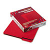 Recycled Folders, One Inch Expansion, 1/3 Top Tab, Letter, Bright Red, 25/Box
