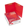 Two-Inch Capacity Fastener Folders, Straight Tab, Letter, Red, 50/Box