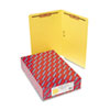 Two-Inch Capacity Fastener Folders, Straight Tab, Legal, Yellow, 50/Box