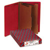Pressboard End Tab Folders, Legal, Six-Section, Bright Red, 10/Box