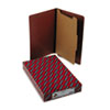 Smead Pressboard End Tab Classification Folders, Legal, Four-Section, Red, 10/Box