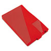 Out Guides with Diagonal-Cut Pockets, Poly, Legal, Red, 50/Box