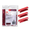 Smead Hanging File Tab/Insert, 1/3 Tab, 3 1/2 Inch, Red Tab/White Insert, 25/Pack