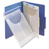 Two-Hole Letter/Legal Accordion Expanding Pockets, Lgl/Ltr, Poly, Clear, 24/Box