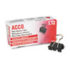 ACCO Mini Binder Clips, Steel Wire, 1/4