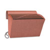 Smead Heavy-Duty A-Z Accordion Expanding File, 21 Pocket, Letter, Leather-Like Redrope