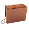 Smead Jan-Dec Accordion Expanding File, 12 Pocket, Letter, Leather-Like Redrope