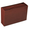 Smead Jan-Dec Open Accordion Expanding File, 12 Pocket, Legal, Leather-Like Redrope