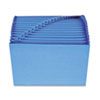 Smead Antimicrobial A-Z Accordion Expanding File, 21 Pockets, Letter, Blue