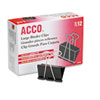 ACCO Large Binder Clips, Steel Wire, 1 1/16