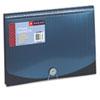 Smead Expanding File, 12 Pockets, Poly, Letter, Black/Blue