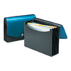 Smead Expanding File, 12 Pockets, Poly, Letter, Black/Blue