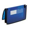 Smead Two Inch Accordion Expansion Ultracolor Wallet, Poly, Letter, Translucent Blue