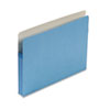 1 3/4 Inch Accordion Expansion Colored File Pocket, Straight Tab, Letter, Blue
