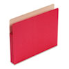 1 3/4 Inch Accordion Expansion Colored File Pocket, Straight Tab, Letter, Red