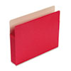 3 1/2 Inch Accordion Expansion Colored File Pocket, Straight Tab, Letter, Red