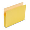 3 1/2 Inch Accordion Expansion Colored File Pocket, Straight Tab, Letter, Yellow