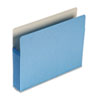 5 1/4 Inch Accordion Expansion Colored File Pocket, Straight Tab, Letter, Blue