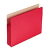 5 1/4 Inch Accordion Expansion Colored File Pocket, Straight Tab, Letter, Red