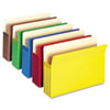 3 1/2&quot; Accordion Expansion Colored File Pocket, Straight Tab, Ltr, Asst, 5/Pack