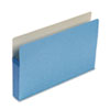 3 1/2 Inch Accordion Expansion Colored File Pocket, Straight Tab, Legal, Blue