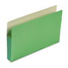 3 1/2 Inch Accordion Expansion Colored File Pocket, Straight Tab, Legal, Green