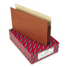 "3 1/2"" Accordion Expansion Pocket w/Tyvek, Straight, Lgl, Manila/Redrope, 10/Box"