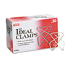 "Ideal Clamps, Steel Wire, Small, 1-1/2"", Silver, 50/Box"