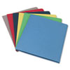 Two-Pocket Portfolio, Embossed Leather Grain Paper, Assorted, 25/Box