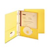 Paper Two-Pocket Portfolio, Tang Clip, Letter, 1/2&quot; Capacity, Yellow, 25/Box