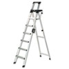 Eight-Foot Lightweight Aluminum Folding Step Ladder w/Leg Lock &amp; Handle, 300lb