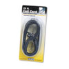 Coiled Phone Cord, Plug/Plug, 25 ft., Black