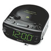 AM/FM/MP3/CD Clock Radio, Black