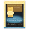 Southworth Parchment Specialty Paper, Gold, 24 lbs., 8-1/2 x 11, 100/Box