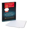 100% Cotton Resume Paper, White, 32 lbs., 8-1/2 x 11, Wove, 100/Box
