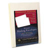 25% Cotton Resume Envelopes, Ivory, 24 lbs., 9 x 12, Wove, 25/Box