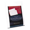 25% Cotton Resume Envelopes,White, 24 lbs.,  9 x 12, Wove, 25/Box