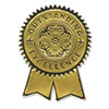 Gold Foil Certificate Seals, &quot;Excellence&quot;, Embossed Foil , 12/Pack