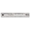 Westcott Stainless Steel Office Ruler With Non Slip Cork Base, 15